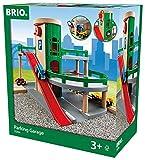 BRIO World Parkhaus Set Mit Straßen, Schienen Und Fahrstuhl, Brio World Eisenbahn Zubehör, Holzspielzeug