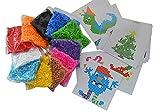 EAST-WEST Trading GmbH Jumbo XL-Bügelperlen-Set, 11.000 Bügelperlen in 11 Farben, 1 große Steckplatte + 25 Vorlagen