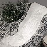 SOSTUDIO Kuscheldecke Fleecedecke Strickdecke Weich quaste Decke Wohnzimmerdecke Tagesdecke Sofadecke Schlafdecke Decke 130 x 180 cm für Fernsehen oder Nap auf dem Stuhl, Sofa (beige)