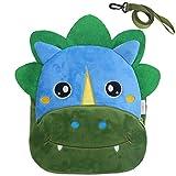 Kindergartenrucksack Jungen, VASCHY Niedlich Kinderrucksack mit Leine Plüsch Tier Klein Rucksack Kindergartentasche für Baby Dinosaurier