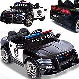 BPD Kinder Elektroauto elektrisches Kinderauto Polizeiauto US-Police mit 12V Akku 2x35W Motoren mit Megaphone MP3 USB