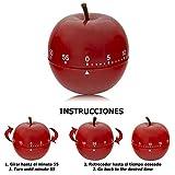 ORYX 5185001 Timer Timer Küche Apfel Rot 60 Minuten