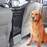 VIKEY Auto Organizer Netz - Universal KFZ Auto Netz Tasche Kofferraum Netz Barrier für Hunde Dehnbar Mit Halter Für Kinder Und Haustiere