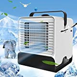 LG Snow Ventilator Tragbare Klimaanlagen-Kühlvorrichtung Sommer-Lüfter Mit Nachtlicht Persönlicher Fans (Color : White)
