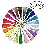 ULTNICE 100 STÜCKE Dekorative Mini Quasten Silk Quasten für Souvenir Geschenk Tag 20 Farben random