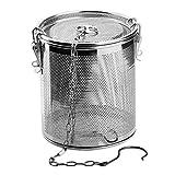 FLAMEER Gewürzsieb aus Edelstahl Metall Teefilter Edelstahlsieb Gewürzkugel Gewürzei - 1.3 l