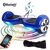 Windgoo Hoverboard, 6.5 Zoll Self Balance Scooter mit Bluetooth Lautsprecher, LED Lights Elektro Scooter E-Skateboard (Blue)