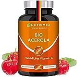 Acerola BIO | Natürliches Vitamin C Hochdosiert 1000mg | Tablette 100% Reines Frucht-Extrakt | Vegane Lutschtabletten für Kinder Immunsystem stärken mit Acerola Kirsche Cherry Geschmack