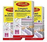 Aeroxon Mottenschutz-Hänger mit Duft - 3x2 Stück - Verlässliche, Starke und schnelle Mottenfalle gegen Kleidermotten - Mottenschutz für Kleiderschrank