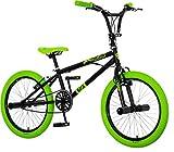breluxx® BMX Fahrrad 20 Zoll Venera 360°Rotor-System Freestyle Bike mit Pegs, schwarz - neon, Made in EU