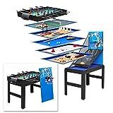 DEMA Multigame Spieltisch Spieletisch 14 in 1 Tischfußball Kicker Tischkicker Billard Basketball Hockey Tischtennis usw.