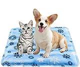 N / A Kühlkissen, Schlafmatte, Eiskissen, für Hunde, Katzen, Haustiere, Kühlkissen, Eisseide, Kühlmatte, Wärmeableitung, für Autositze, Betten im Sommer, Snowflake, 30x40cm