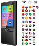 QKa Smart Language Translator Gerät, Hand Interpreter elektronische Taschen-Übersetzer Stimme/Text Foto Übersetzung 70 Sprachen WiFi + Hotspot-Netzwerk