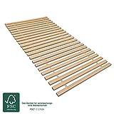 MaDeRa Rollrost XXL mit 23 extra stabilen Leisten aus massiven Buchenholz, belastbar bis ca. 280 kg Größe 140x200