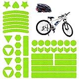 Vegena Reflektoren Fahrrad, 41 Stück Fahrrad Aufkleber Reflektor Sticker, Reflektierende Aufkleber Kleidung, Fahrradaufkleber Reflektorband für Helm Kinderroller Kinderwagen Fahrräder Skateboard Auto