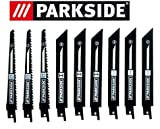 Parkside Sägeblatt Set 9 Stück für Säbelsäge PSSA 18 A1 - LIDL IAN 104447 3x Holz, 3x Metall, 3x Bimetall