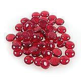 Glänzender, reflektierender Feuerglas-Kies, Feuersteine oder Perlen für Feuerstellen, Aquarien, Sukkulenten oder als Gartendekoration, 17-19 mm, 335 g. rot