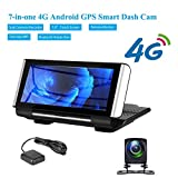 Android GPS Intelligent Auto-Fahrenrecorder 7-Zoll-Center Console 4G Wolke Spiegel Doppelobjektiv-Full-HD-Schlag-Nocken-Auto-Kamera Bluetooth Rückfahrbild