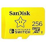 SanDisk microSDXC UHS-I Speicherkarte für Nintendo Switch 256 GB (V30, U3, C10, A1, 100 MB/s Übertragung, mehr Platz für Spiele)