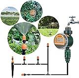 FIXKIT Bewässerungsuhr Neue LED Display Wasser Timer mit wasserdichtem Schutzdeckel und digitalem Bewässerungsprogramm(bis zu 30 Tagen) (Bewässerungsuhr)