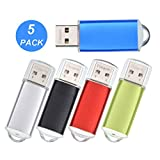 USB Stick, 8GB 5 Stück Bunt USB 2.0 Memory Sticks, Metall Mehrfarbig 8 GB Speicherstick 5er Pack Mini Tragbar Pendrives, Externe Geräte Datenspeicher Billig Set USB Flash Laufwerk von Datarm