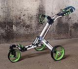 Yorrx Golftrolley SL Pro 7 HAMMA Plus, Golfwagen mit innovativem 360° Spin Vorderrad (frei 360° gelagert), Aktion: inkl. Regenschirmhalter & Tees (grün/weiß)