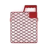 Schuller Eh'Klar Kunststoff Abstreifgitter Drop PVC 22x26cm 40421,Rot