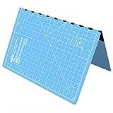 ANSIO Faltbare selbstheilende Schneidematte A3. Ideal für Bastel, Quilten, Nähen, Scrapbooking, Stoff & Papercraft - Imperial - 17 x 11 Zoll - Himmelblau