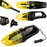 DUNLOP Automotive Nass- und Trockensauger 12V / 60W, Düsenverlängerung, 3m Kabel, Ultrakompakt für die schnelle Reinigung zwischendurch