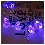 LED Pinguin Tierform Lichterketten Nachtlicht Zeichen Licht Dekor Schlafzimmer Wohnzimmer Garten Straße Dekoratives Licht Urlaub Beleuchtung (Blau)