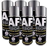 Alex Flittner Designs Thermolack Spray 6 Spraydosen Ofenlack Auspufflack Hitzebest. 800 °C Silber 400ml