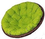 Rattani - Polster für Papasansessel, Auflage, Ersatzpolster Papasan D 110 cm, Stoff Loneta hellgrün, Made in EU !
