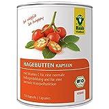 Raab Vitalfood Bio Hagebutten-Kapseln, 150 Stück, ohne Zusätze, vegan, hochdosiert, mit Vitamin C für normale Knorpel- und Kollagenbildung, 129 g