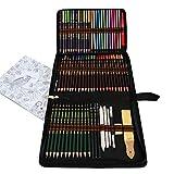 Farbstifte,Buntstifte Zeichensets,Zeichenstifte Malset Skizzierstifte Set Bleistifte für Skizzieren und Zeichnen Profi Art Set und Kit Bag 72 Stück,Set für Malbücher für Erwachsene oder Kinder