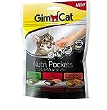 GimCat Nutri Pockets - Knuspriger Katzensnack mit cremiger Füllung und funktionalen Inhaltsstoffen
