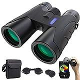 Fernglas 12x40 HD Anti-Fog Ferngläser Nachtsicht-Funktion   BAK4 Prismen FMC Binoculars mit Tragetasche und Mobiltelefonadapter Outdoor Teleskop für Tierbeobachtungen,Wandern,Jagd