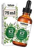Vitamin K2 MK-7 200µg - 2550 Tropfen (75ml) - Höchster All-Trans Gehalt 99,7+% (VitaMK7® von Gnosis) natürlich fermentiert - Laborgeprüft ohne Zusätze hergestellt in Deutschland