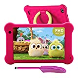 AEEZO Kids Tablet 7 Zoll WiFi Android 10 Tablet PC 2020 New FHD 1920x1200 IPS Screen, 2GB RAM 32GB ROM, Parental Control, Kidoz Installed, Eye Protection Anti Blue Light Screen Prime (Pink)