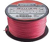 Connex Maurerschnur pink - 100 m Länge - Ø 1,0 mm - Polyethylen - Knotenfest - Reißfest & Belastbar - Auf Spule / Richtschnur / Bauschnur / Lotschnur / Pflasterschnur / COX781540