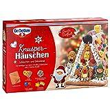 Dr. Oetker Knusper-Häuschen, Lebkuchenhaus und Dekorierset zum Basteln und Verzieren für die Weihnachtszeit - 403 g