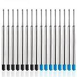 YOTINO Kugelschreiberminen Ersatz-Großraumminen 0.25cm Metall Kugelschreiber Minen (15 Stück schwarz+15 Stück blau)