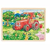 Goki 57655 - Einlegepuzzle - Traktor