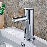 Aimadi Infrarot Sensor Wasserhahn Automatisch Induktion Badarmatur Wassersparen Waschtisharmatur Handwaschbecken Batteriebetrieb Chrom kaltwasser