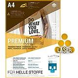 SKULLPAPER® Transferfolie für HELLE Stoffe - für Laserdrucker - inkl. 200+ Motive (A4-10 Blatt)