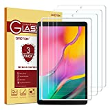 OMOTON [3 Stück] Panzerglas für Samsung Galaxy Tab A (2019) T510 und T515 [10.1 Zoll], mit Schablone, [2.5D Kanten] [9H Härte] [Kratzfest] [Bläschenfrei] Schutzfolie für Tab A 10.1