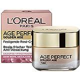 L'Oréal Paris Feuchtigkeitspflege für rosig-frischen Teint, Rosen Gesichtscreme, Golden Age Creme für reife Haut, 50ml