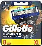 Gillette Fusion 5 ProGlide Rasierklingen mit Trimmerklinge für Präzision und Gleitbeschichtung, 8 Ersatzklingen