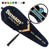 Senston N80 Carbon Ultraleicht Badminton Schläger mit Schlägertasche