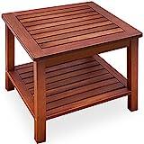 Beistelltisch Gartentisch Akazienholz Massiv 45x45x45cm Balkontisch Couchtisch Holztisch Blumenhocker Holz Tisch Garten