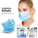 50 Stück Medizinische OP-Mundschutzmasken 3-lagig Mundschutz Gesichtsmaske Einwegmaske EN 14683 Typ II